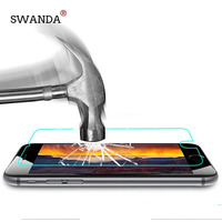 SWANDA 9H 0.3 mm 2.5D Premium Tempered Glass for iphone 5 5s 5c Screen Protector for iPhone 7 6 6S 6/7plus protective film free