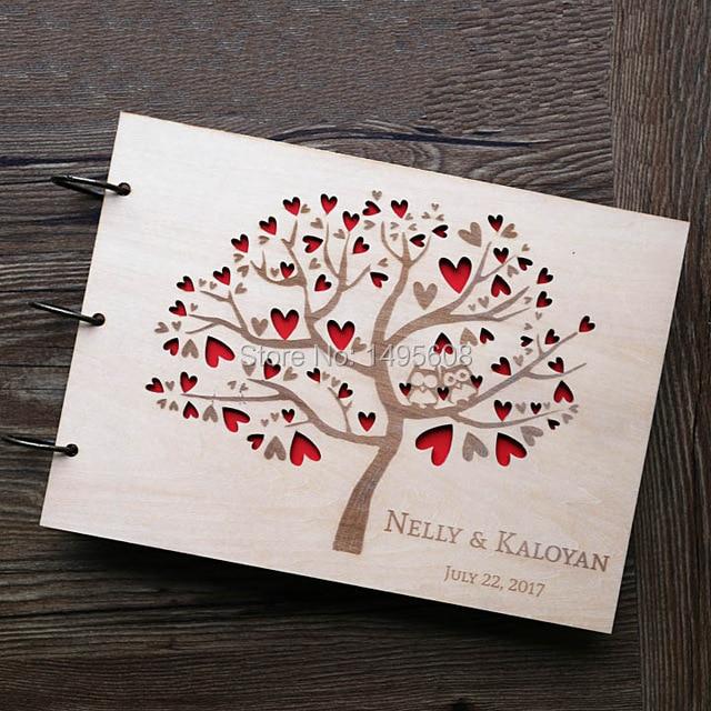 Hibou De Mariage Livre d'or, Rustique Livre d'or, coeur arbre De Mariage Livre D'or, cadeau de mariage En Bois