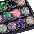Belleza Manicura Del Arte Del Clavo Belleza 18 color/set DIY y Salón de belleza 3D Shell Kit Polvo de Decoración de Uñas de Arte Kit de Uñas Glitter Lentejuelas