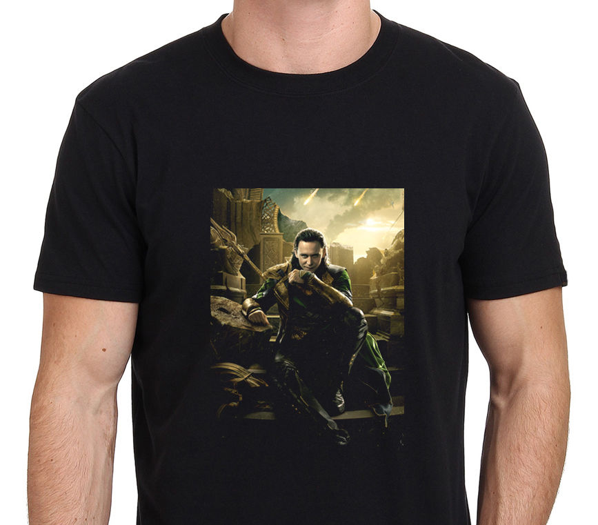 LOKI Tom Hiddleston Men's Black T Shirt Size S to 3XL Tee ...