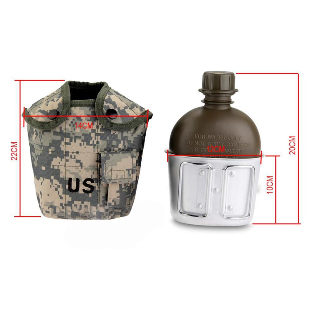 Free Shipping Hotsale high quality Army 1L Water Bottle for Sport Hiking antishock Camping portable Outdoor