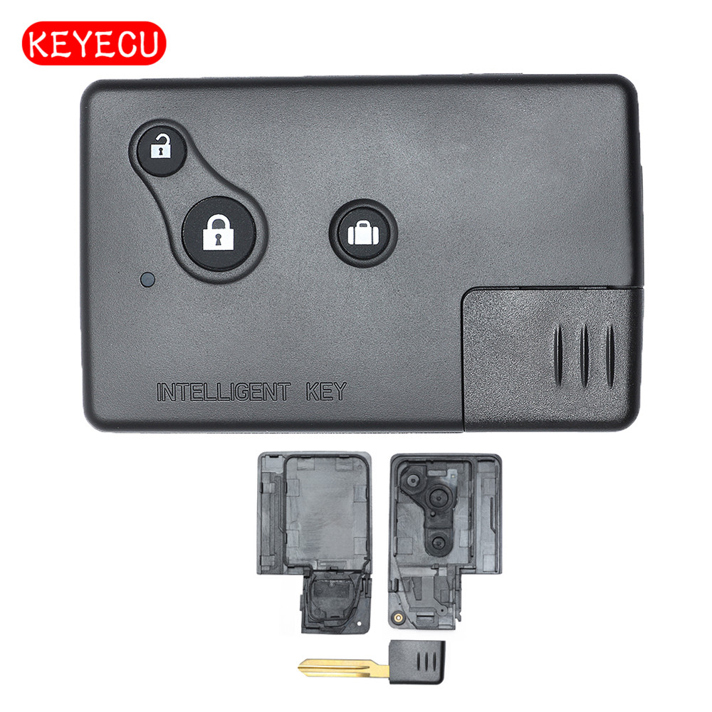 Keyecu Replacement Smart Remote Key Shell Case Fob 3 Buttons for Nissan Teana with Small key Old Model