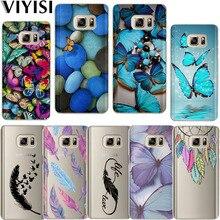 Butterfly Feather Dreamcatcher Phone Case Soft TPU Etui For Samsung galaxy a7 2018 case A6 A8 A5 J5 J7 J8 J6 J4 Plus Fundas Etui