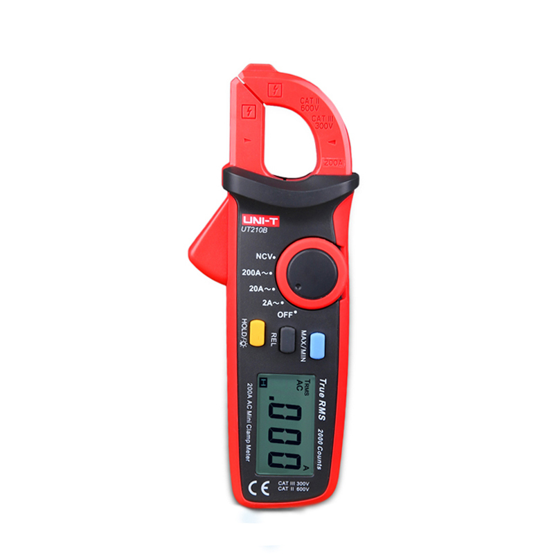 New UNI-T Mini Digital Current Clamp Meter Multimeter UT210B 2000 Count True RMS LCD Display AC-2A/20A/200A Ammeter China