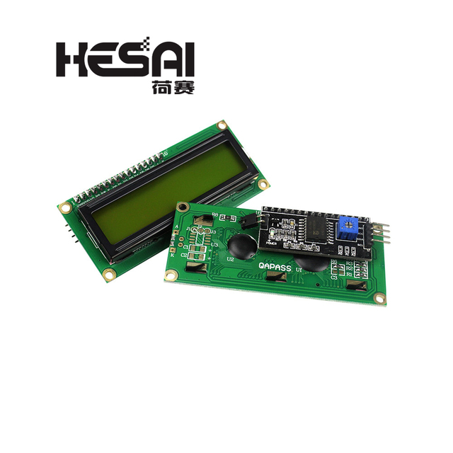 1602 LCD Module Blue/Yellow Green Screen with IIC/I2C 16x2 LCD Backlight Module LCD-1602+I2C IIC 5V for arduino DIY Kit 2