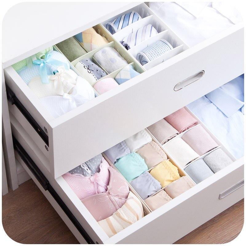 Plastic Storage Box Separated Desktop Underwear Socks Storage Tanker Drawer Classification Underwear Storage Box
