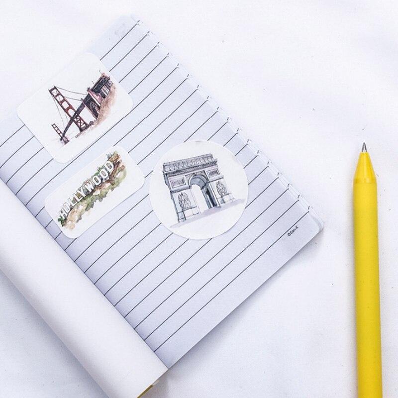 Купить с кэшбэком 46 Pcs/bag It's a small world Mini Paper Stickers Scrapbooking Sticker Stationery diy Diary Scrapbook Notebook Album Decor