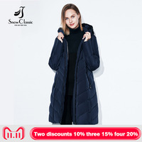 SnowClassic Winter Jacket Women Thick Coats Big Size 6xl Female Warm Parka Thick Cotton Outwear lace Soft Long Jackets New Retro