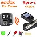 Godox Xpro-C триггер 2 4G беспроводной передатчик вспышки + X1R-C приемник для Canon V860II-C TT685-C TT600 SK400II