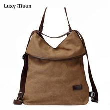 2017 multifunktionale Leinwand Handtasche Vintage Umhängetaschen Frauen Messenger Bags Hoher kapazität Damen Bolsa Feminina