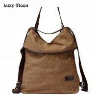2018 Multifuncational Canvas Handbag Vintage Shoulder Bags Women Messenger Bags High capacity Ladies Bags Bolsa Feminina