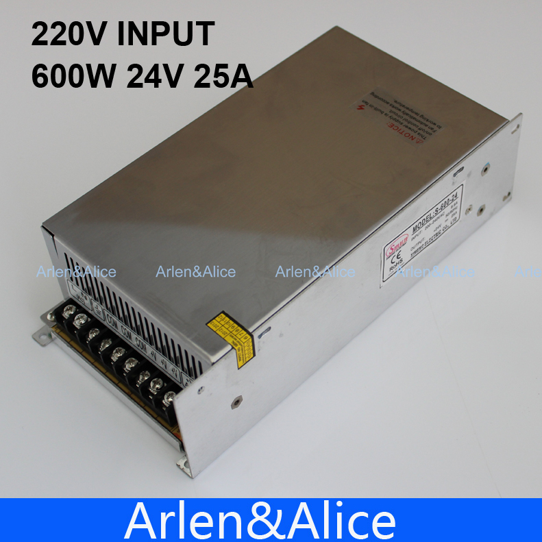 600W 24V adjustable 25A 220V input Single Output Switching power supply for LED Strip light AC to DC best quality 12v 15a 180w switching power supply driver for led strip ac 100 240v input to dc 12v