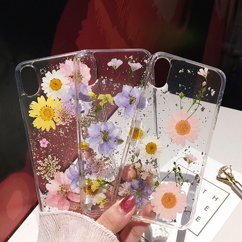 Flower Silver foil Clear Phone Cases For iPhone 12 11 Pro Max XS Max XR X 6 6S 7 8 Plus SE Soft Silicone Cover