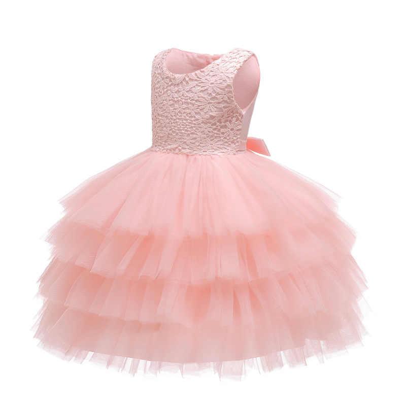 a6eb6648e 2019 nuevo Vestido de encaje para niña 9 M-24 M 1 año vestidos de  cumpleaños para niñas vestido de la princesa