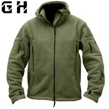 Military Tactical Softshell Fleece Jacket Hooded Winter Men US Army Polartec Sportswear Clothes Warm Coat Casual Jackets(China)