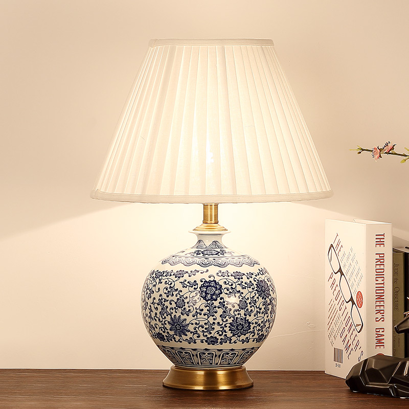 China antique living room study retro vintage table lamp - Porcelain table lamps for living room ...