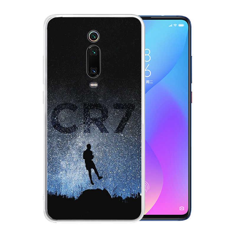 Miękki silikonowy przezroczysty futerał TPU dla Xiaomi Redmi Note 8 Pro 7 6 K20 K30 5G 8A 7A trwały CR7 C Ronaldo okładka
