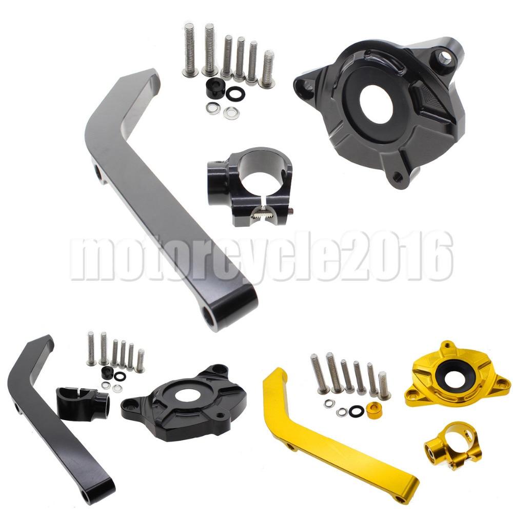 Adjustable Steering Stabilize Damper bracket Mount kit For Kawasaki Z1000 2014-2016 2015 T6061-T6 Aluminum A set CNC FXCNC  adjustable steering stabilize damper bracket mount kit for honda cbr1000 2008 2014 t6061 t6 aluminum a set cnc fxcnc gold