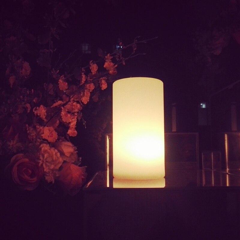 16 Kleuren Led Cilinder Lamp Oplaadbare Indoor Outdoor Home Verlichting Afstandsbediening Restaurant Koffie Kamer Tuin Tafellamp Aantrekkelijk En Duurzaam