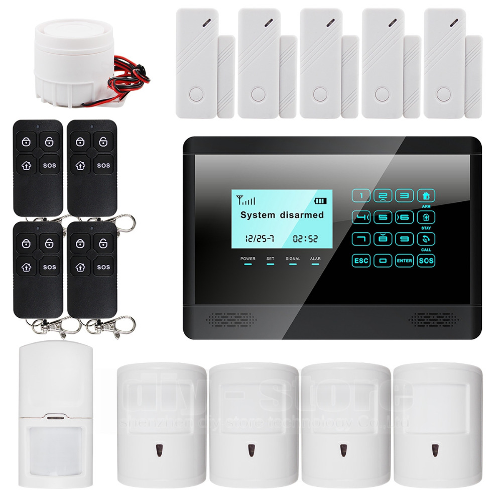 DIYSECUR Wireless Wired GSM SMS Autodial Home Security Pet Friendly font b Alarm b font System