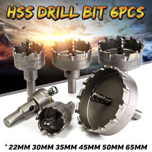 Saw-Set Drill-Bit Metalworking Hole-Saw Core Carbide-Tip Stainless-Steel HSS 6pcs Alloy