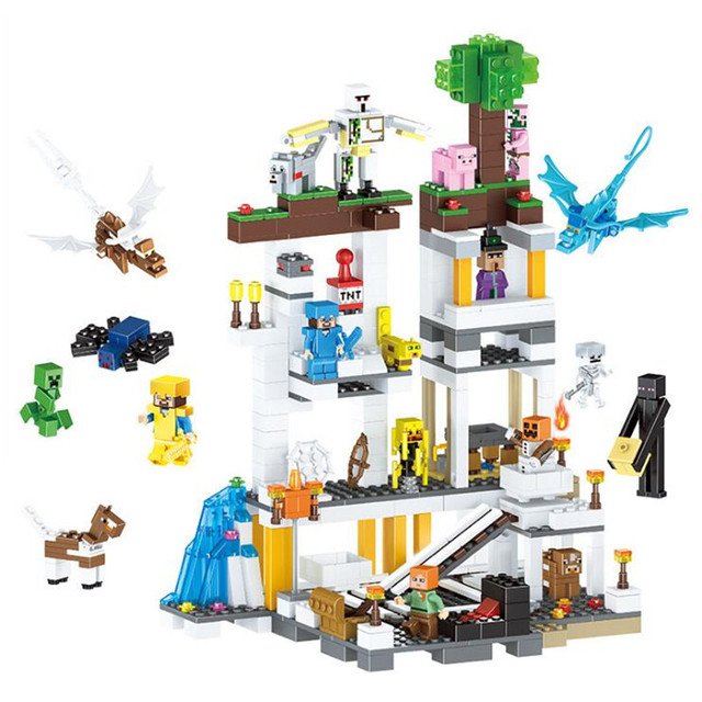 Christmas Minecraft World.Us 28 99 49 Off New Legoings 922pcs Minecraft Mine My World Diy Model Building Blocks Kit Kids Education Toys Christmas Birthday Gifts In Model