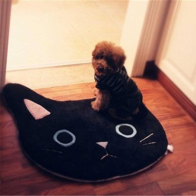 浴室バスマット U 字型トイレ敷物黒、白猫風呂マットカーペット 68 × 68 センチメートル床カーペット玄関ソフト床パッドペット