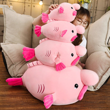Hot 1pc 35cm/45/55cm/85cm New Water Drop Fish Plush Toy Stuffed Pillow Ugly Doll Creative Gift Send To Children Baby