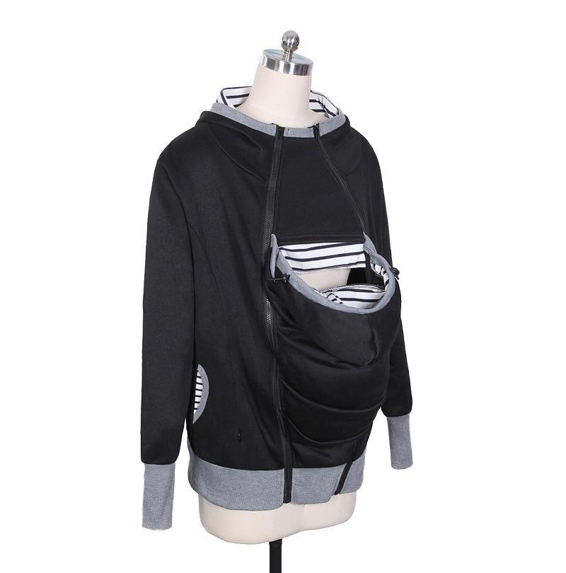 Women Sweatshirts Baby Carrier Wearing Hoodies Combine Three By One More Function Kangaroo Mom Loose Coat Suit-dress