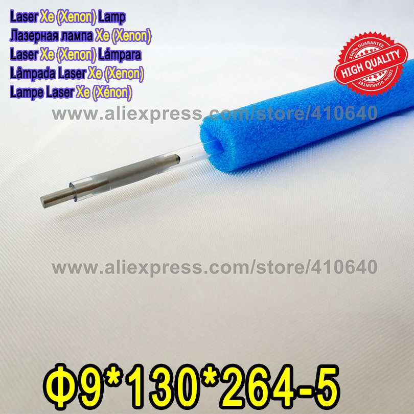 HIGH QUALITY 1 Pair Laser Xenon Flash Lamp Size 9*130*264-5 Hard Type Laser Xe Lamp Tube Suitable for Most Laser Cutting Machine laser xenon lamp x8 125 270 5 use for laser welding machine laser mark machine other size also can be making