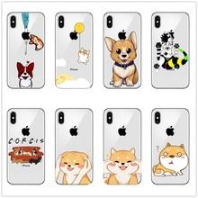 Cute Welsh Corgi Pembroke Shiba Inu Animal Dog Soft Silicon TPU Case Cover For iphone X MAX XR 8 8Plus 7 7Plus 6 6S Plus 5 5S SE