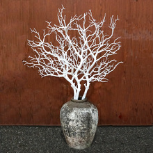 1PCS Artificial Black White Tree Branches Plastic Coral Flowers for Home Wedding Decorative Dried H90CM