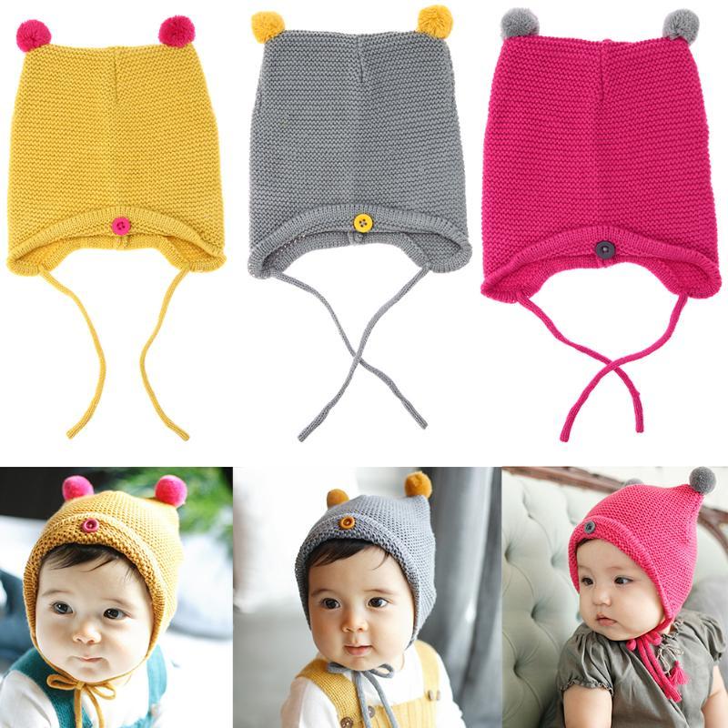 Boy's Scarves Fashion Baby Kids Winter Autumn Warm Hat Earflap Cap Wit Stars Pattern 100% Original