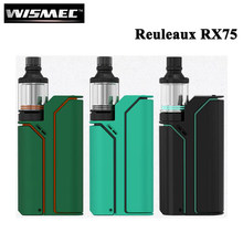 New Color E Cigarette Wismec Reuleaux RX75 Starter Kit with TC 75W RX75W Box Mod Vape 2ml Amor Mini Atomizer Vaporizer(China)