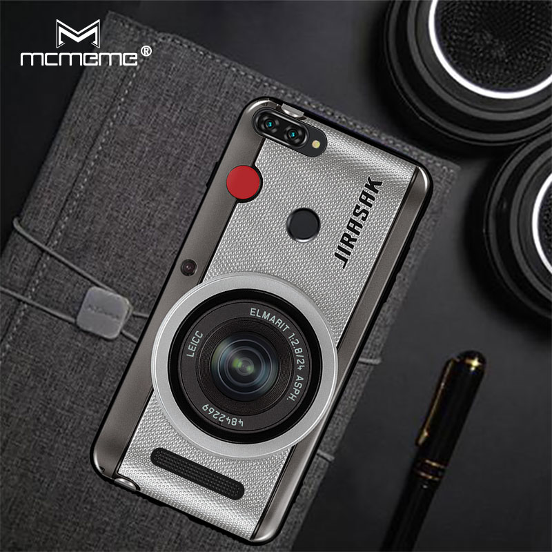 For Lenovo K320T Case Lenovo A5 Cover Retro Camera Cassette Tapes Soft Silicone Back Cover For Lenovo A5 L18011 K320T Phone Case