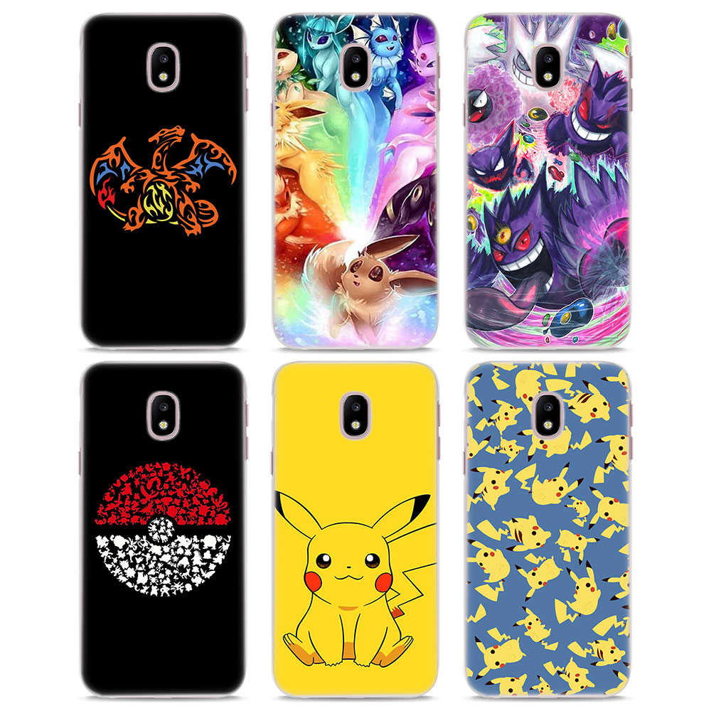 cartoon-font-b-pokemons-b-font-eevee-pika-style-clear-frame-hard-back-phone-case-for-samsung-j3-j5-j7-2017-j7-prime-j4-j6-j8-2018