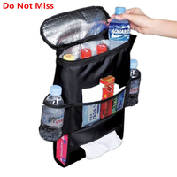 PLEEGA Auto Food Beverage Storage Organizer Bag Nsulated Container Basket Picnic Lunch Dinner Bag Ice Pack