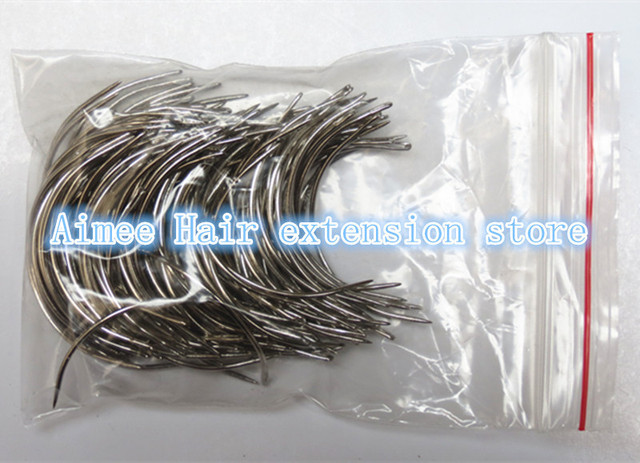 Free shipping 150pcs weaving needles /C sharp type needles/curved needle