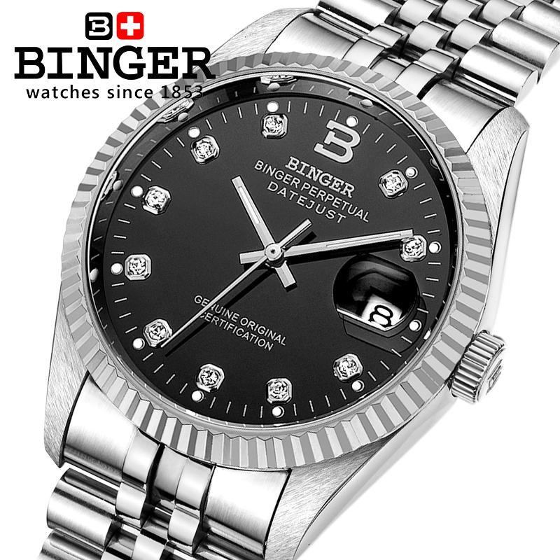 Switzerland Luxury Brand BINGER watches men automatic mechanical Wristwatches Diamond Sapphire Waterproof Men's Clocks BG-0373-3