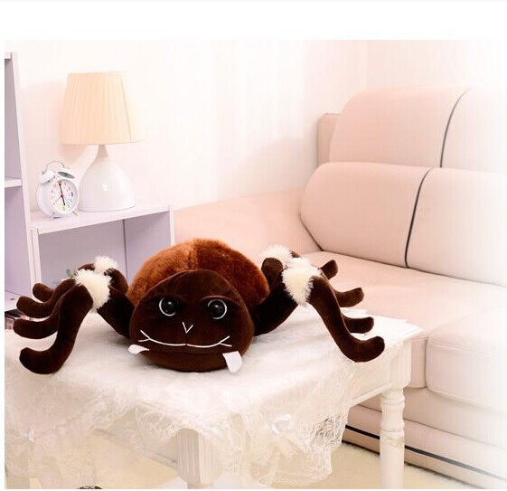 creative plush whimsy spider toy new spider toy brown spider doll gift doll about 55x80cm 0280 футболка toy machine leopard brown