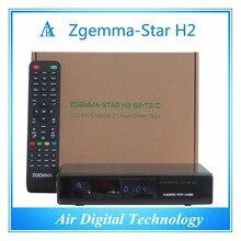 2 unids/lote full HD dvb s2 dvb t2/c soporte IPTV receptor de satélite Zgemma estrellas H2