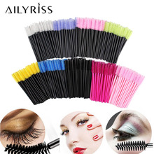 25/50pcs/lot Disposable Nylon Silicone Mascara Wands Handle Brushes Lashes Bendable Makeup Brushes Eyelash Extension Tools