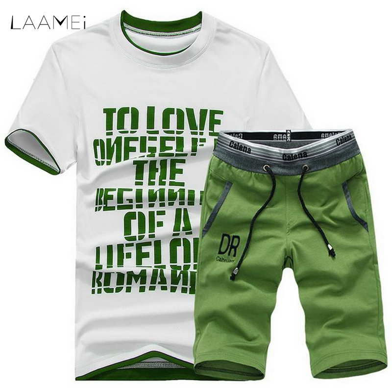 LAAMEI Casual Summer Men Sportwear Sets Tracksuit Male Outwear Sweatshirts Patchwork Men Hoodies Round Collar Male Tracksuit 4XL
