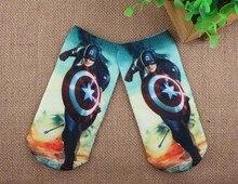 1 Pair Cartoon Kinderen Sokken Marvel'S De Avengers Iron Man Hulk Film Patroon Kids Sokken Jongens Meisjes Katoen Babysokjes