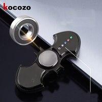 LED Fidget Spinner Bat Cigarette Electric Lighter USB Rechargeable Cool Light Up Hand Spinner Finger Fidget