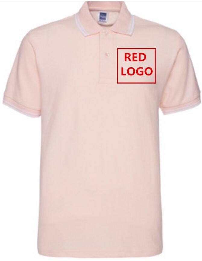 Pale pink Your letter design. Lo imprimimos Polos Men Cotton Camiseta - Ropa de hombre