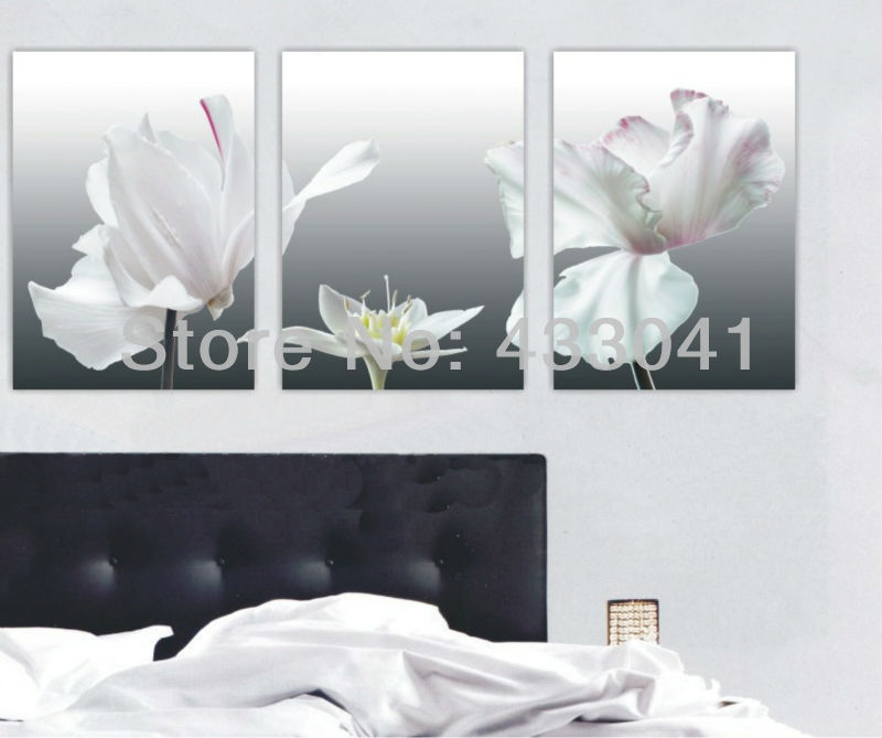 3 piece set modern abstract still life beautiful purple white 3 piece set modern abstract still life beautiful purple white flowers colors oil painting on canvas wall decorative art for sale in painting calligraphy mightylinksfo