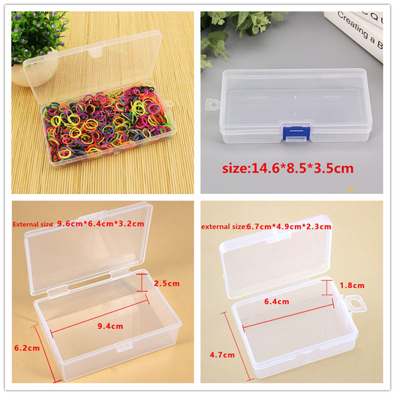 Practical Toolbox Plastic Container Box for Tools Case Screw Sewing PP Boxes Transparent Component Screw Jewelry Storage Box