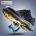 Modyf Otoño Invierno Hombre de trabajo puntera de acero zapatos de seguridad calzado casual transpirable botas de montaña al aire libre de protección a prueba de pinchazos
