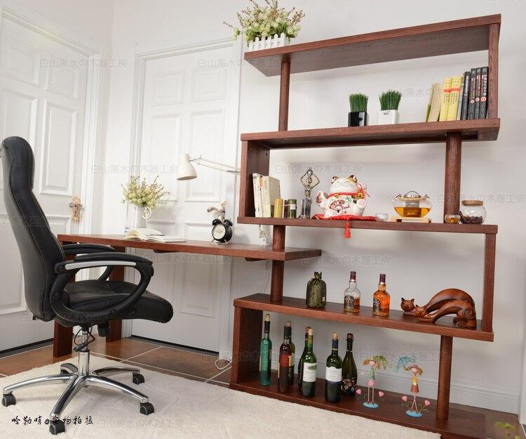 Gratis verzending eenvoudige moderne houten meubel bureau computer